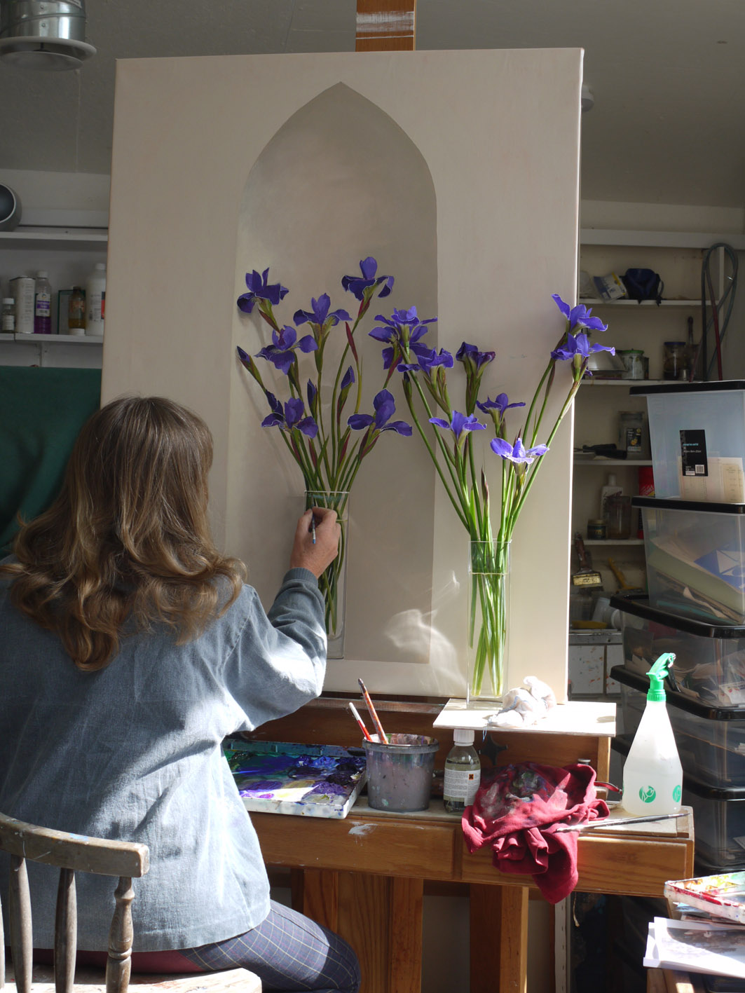 Painting Irises for Dartmouth